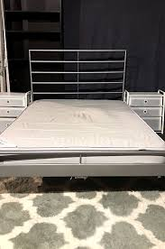 Used Bed Frames For Sale Sultan Mustad Mattress With Ikea Grey Metal Bed Frame