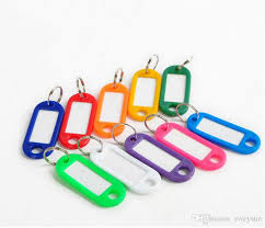 color key rings images Mix color plastic keychain key tags id label name tags with split jpg