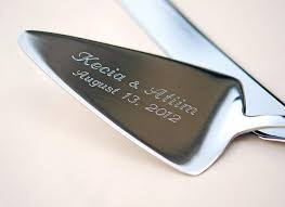 personalized wedding serving sets engraved cake knife server set personalized beadz2pleaz