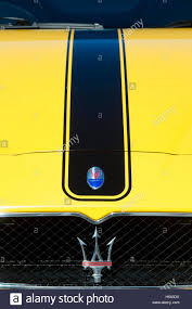 maserati blue logo maserati coupe v8 gransport s a badge logo on front of the car