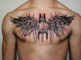 crossed sword in middle of chest