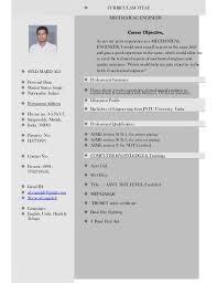 Career Objective For Resume Mechanical Engineer Mechanical Engineer Resume