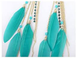 feather earrings online india buy greenish blue feather earrings at 38 online india at