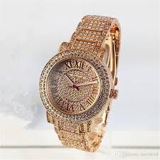 crystal bracelet watches images New famous luxury crystal dial bracelet quartz wrist watch jpg