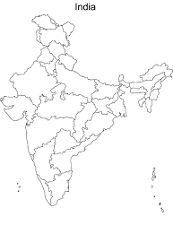 India Map Political Blank Printable by Map Of India 28 States And Capitals India Map Outline India