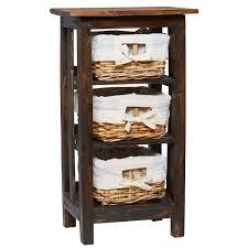 Uma Table L Uma Rattan Side Table With Storage Baskets 29x15 Save 30 Nurani