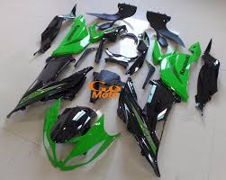 2013 2016 kawasaki zx6r classic oem green motorcycle fairing kit