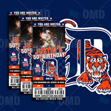 baby shower sports invitations sports invites 2 5 6 u2033 detroit tigers baseball sports party
