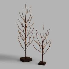 led tree brown wrapped micro led tree world market