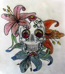 sugar skull flowers by temptasha on deviantart