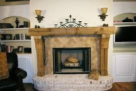 stone rustic fireplace mantels