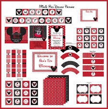 minnie mouse deluxe printable package red