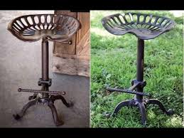 Tractor Seat Bar Stool Antique Tractor Seat Bar Stools Youtube
