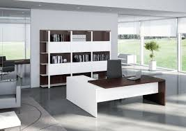 L Shaped Desk With Bookcase Furniture Best Modern White Executive Office Furniture Ideas With