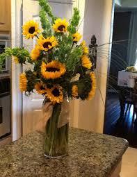 sunflower arrangements sunflower arrangement for picture table for rustic wedding