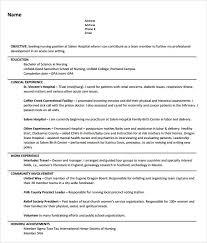 Sample Resume For Registered Nurse Position by Nursing Resume Objectives Perioperative Nurse Resume Free Resume