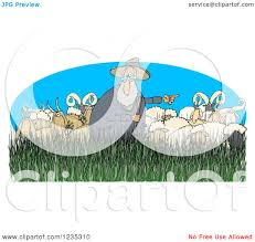 belgian sheepdog clipart clipart of a pointing shepherd in tall grass with sheep rams