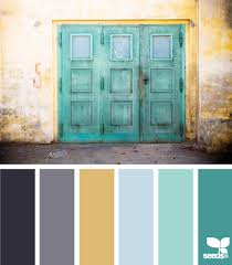 gray teal and yellow color scheme decor inspiration hue colors