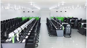 design cyber cafe furniture led curved gaming monitor application in internet cafe in