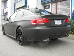 matte bmw matte black bmw 335i rear