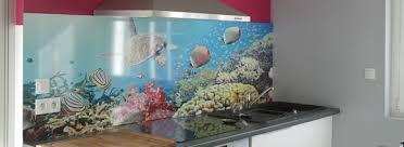 credence cuisine polycarbonate crédence déco revêtement mural décoratif pour plan de travail en