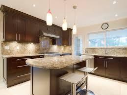Dark Shaker Kitchen Cabinets Cherry Wood Shaker Wide Rail Door Style Kitchen Cabinets