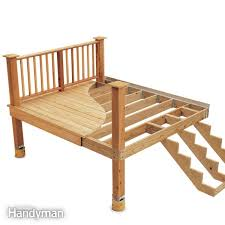 Free Instructions On How To Build A Platform Bed by Building A Deck The Family Handyman