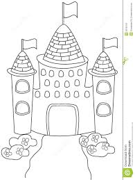castle coloring page stock illustration image 50165761