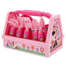 Kitchen Set Toys Box Amazon Com Disney Minnie Mouse 9 Piece Gardening Set Toys U0026 Games