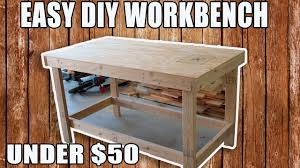 easy diy workbench for under 50 youtube