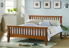 King Headboard And Frame Bedroom Dazzling Brown Bed Set Placed On White Ceamic Tiled
