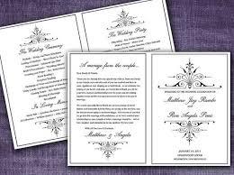 victorian romance half fold wedding program template microsoft