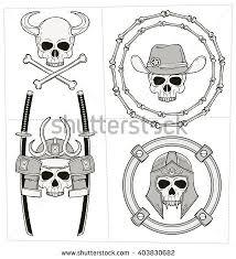 skull ornament stock vector 403830682