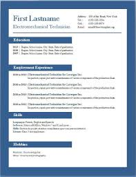 Resume Templates For Microsoft Word Resume Templates Word 2013 One Page Resume Template Word Resume
