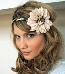 big flower headbands hairstyles wedding hairstyles with big flower headband wedding