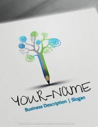 design free logo online pencil logo template