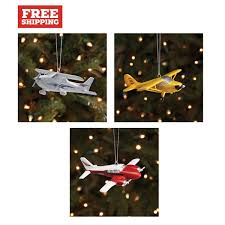 piper aztec cub and cessna 172 ornaments from