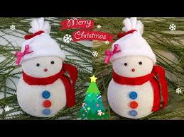 New Year Ornaments Craft Diy Snowman Easy Socks Snowman Craft Idea For