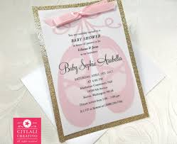ballerina slippers glitter baby shower invitations citlali