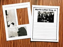 printable story writing paper martin luther king kindergarten printables simply kinder martin luther king book with nonfiction pictures comes in full and half size versions and
