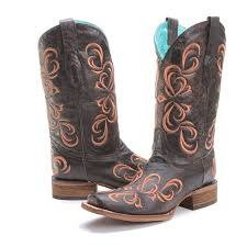 womens justin boots size 11 square toe womens cowboy boots pfi