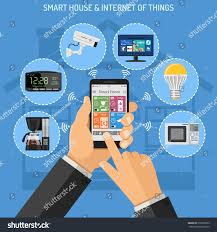 smart house internet things concept flat stock vector 579260359