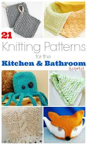 bathroom kitchen decor knitting patterns knits end a fun collection of 21 knits perfect for sprucing up your kitchen decor and adding a