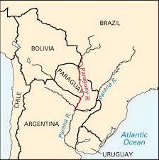 parana river map paraguay river location students britannica homework help