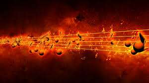animated background with musical notes music notes flowing