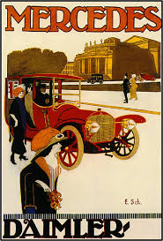 car advertisement mercedes automobile car advertisement art poster print vintage