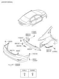hyundai accent parts catalog rear bumper for 2013 hyundai accent hyundai parts deal