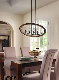 Kichler Dining Room Lighting Dining Room Lighting Grand Bank 5 Light Linear Chandelier