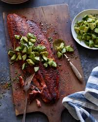 blackened salmon with avocado cucumber salsa what u0027s gaby cooking