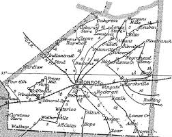 County Map Of Nc Union County N C P O Map Circa 1901